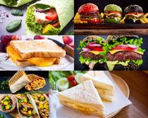 面包汉堡包展示摄影高清图片