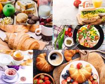 面包鸡蛋早餐食物摄影高清图片