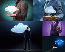 商务男人科技云服务摄影高清图片
