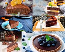巧克力草莓蛋糕拍摄高清图片