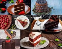 水果慕斯蛋糕摄影高清图片