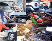 汽车保养护理拍摄高清图片