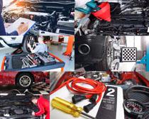 汽车保养4S店摄影高清图片