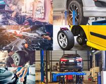 汽车电瓶轮胎护理摄影高清图片