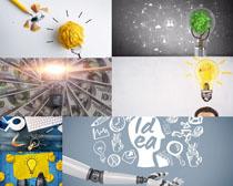 商务金融与灯泡摄影高清图片