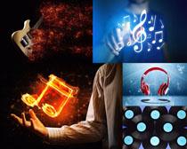 音乐器材与符号摄影高清图片