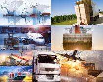 货车飞机运输工具摄影高清图片