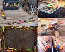 鱼杆鱼线装备摄影高清图片