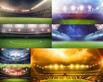 足球运动场地景观摄影高清图片