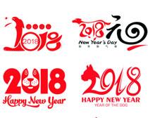 2018字体设计矢量素材