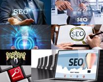 商务网格SEO优化摄影高清图片