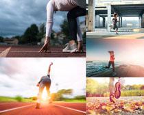 奔跑的欧美人物摄影高清图片