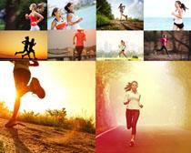 跑步的女人摄影高清图片