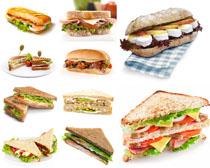 汉堡面包早餐摄影高清图片