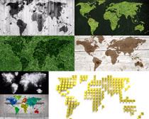 组合地图摄影高清图片