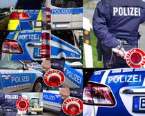 交通警察汽车摄影高清图片