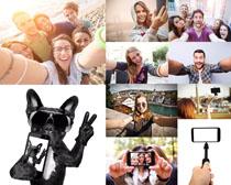 开心的自拍人物摄影高清图片