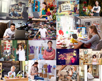 工作的国外人物摄影高清图片