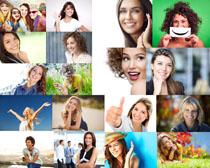 开心笑容女性摄影高清图片