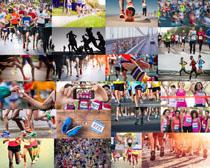 长跑运动员摄影高清图片