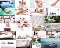 睡觉一家人摄影高清图片