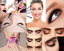 女性化妆睫毛拍摄高清图片