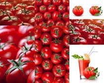 大西红柿与饮料摄影高清图片
