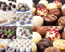 甜品牛奶巧克力摄影高清图片