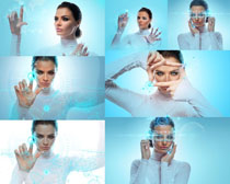 科技与美女拍摄高清图片