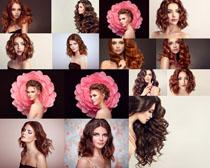 时尚卷发美女摄影高清图片
