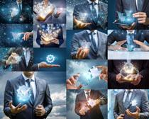 商务男士手势科技摄影高清图片