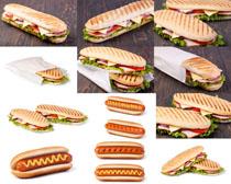 面包火腿摄影高清图片