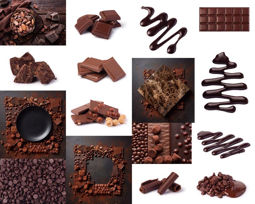 巧克力与可可粉摄影高清图片