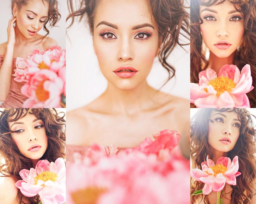 欧美花朵美女摄影高清图片