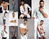 欧美时尚男人模特摄影高清图片