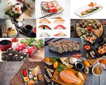 寿司三文鱼摄影高清图片