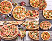 披萨食物展示摄影高清图片