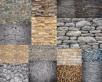石头砖头墙壁摄影高清图片