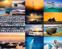 海上油艇摄影高清图片