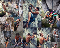 登山运动男人摄影高清图片