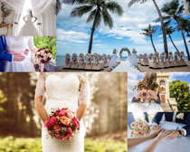 浪漫婚礼现场人物摄影高清图片