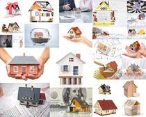 建筑模型房屋攝影高清圖片