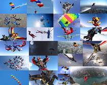 跳伞运动男女摄影高清图片