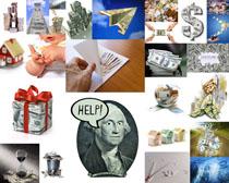纸币折纸金融摄影高清图片