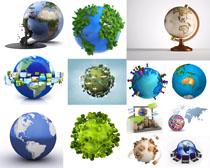 3D环保地球风景摄影高清图片