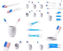 牙刷生活用品摄影高清图片
