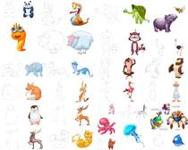 卡通绘画动物摄影高清图片