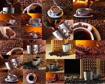 咖啡果与咖啡摄影高清图片