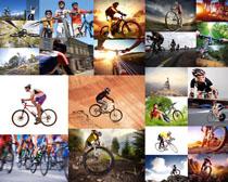 山地自行车运动人物摄影高清图片