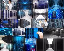 网络服务器管理摄影高清图片